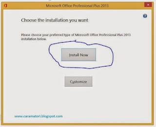 cara install office 2013 dengan gambar