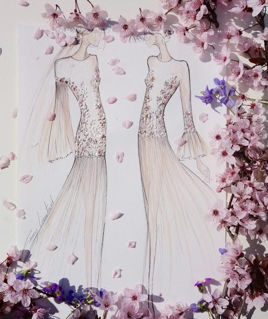 créateur robe de mariée dessin collection Fanny Liautard