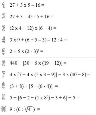 Aprendemos matemáticas juntos: OPERACIONES COMBINADAS