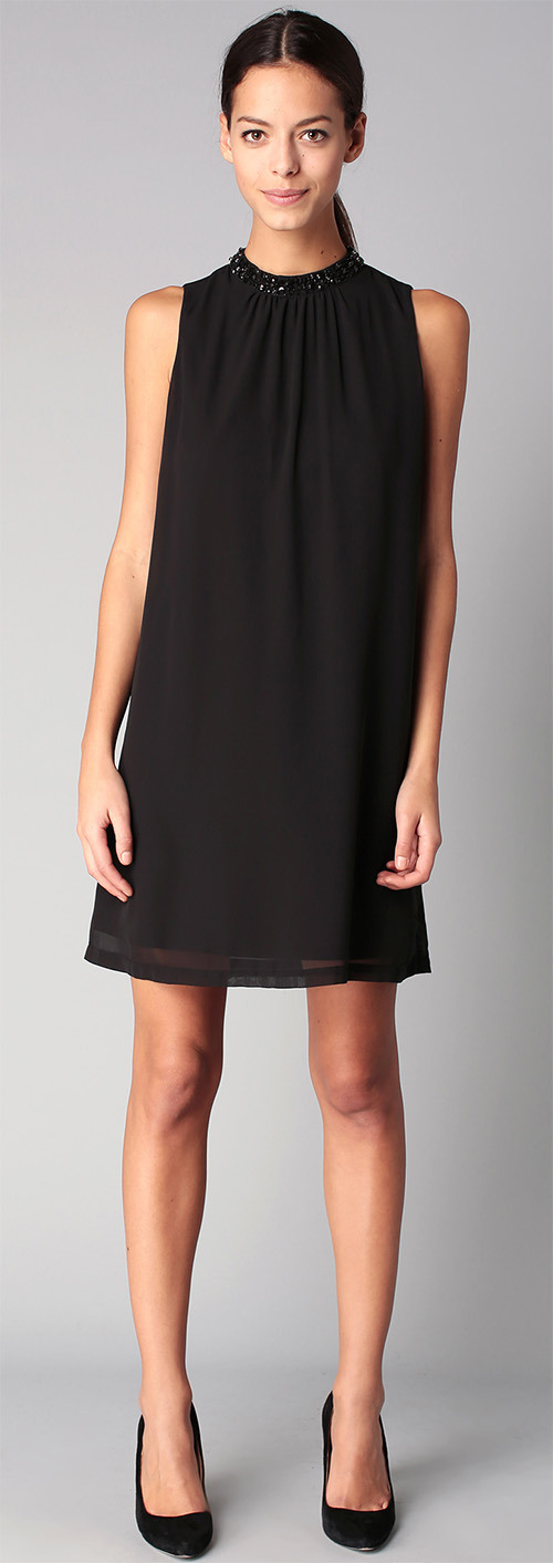 Robe courte de soirée noire Vero Moda
