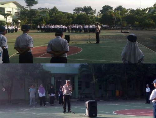 Police Go To School, Sat Lantas Polres Muba Kunjungi 8 Sekolah