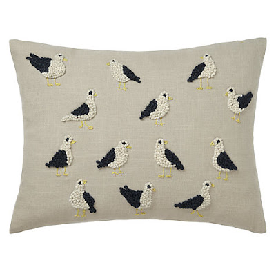 John Lewis French Knot Seagulls Cushion