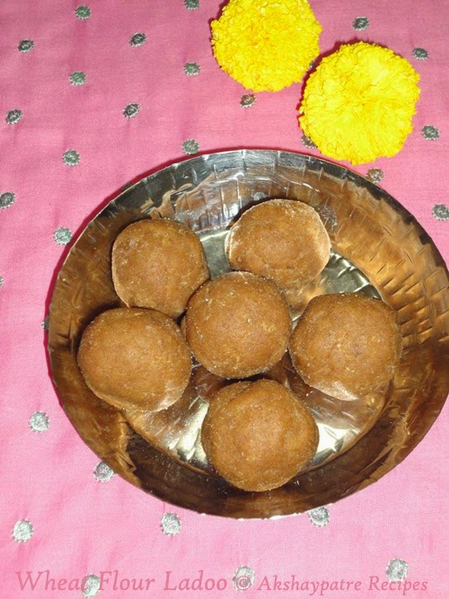 prepared wheat flour ladoo