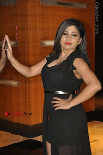 Telugu Actress Model Madhulagna Das Latest Spicy Stills in Black Short Dress  0022.JPG