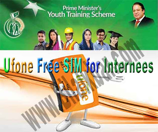 NIP (National Internship Program) Provide a Ufone Sim Free of Cost to All Internees