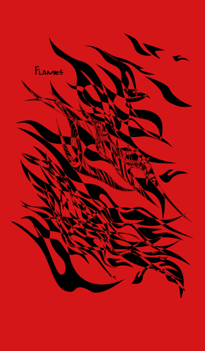Flames (Red and Black) Theme.
