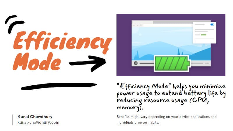 Microsoft Edge's new Efficiency Mode is designed to minimize power usage