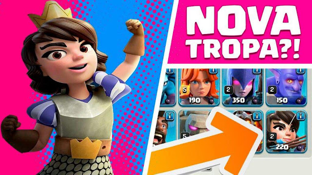 Vazou Nova Tropa Princesa - Clash of Clans