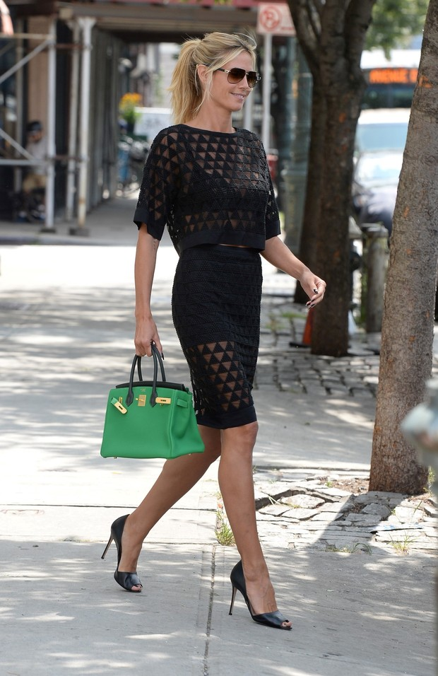 Heidi Klum uses look that costs more than $ 66 thousand for a walk in New York