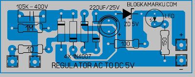 Cara Membuat Arus Dc 12 dan 5 Volt dari Arus Ac 220v