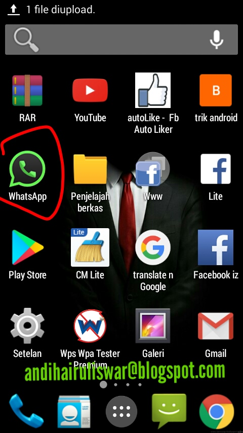 download whatsapp transparan