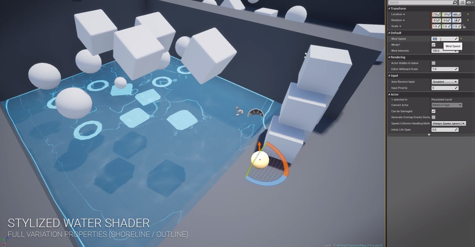 Stylized Water Shader for Unreal Engine 4 | Computer Graphics Daily News
