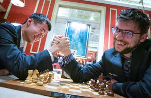 Miracle à Londres pour Maxime Vachier-Lagrave face à Ding Liren - Photo © Lennart Ootes