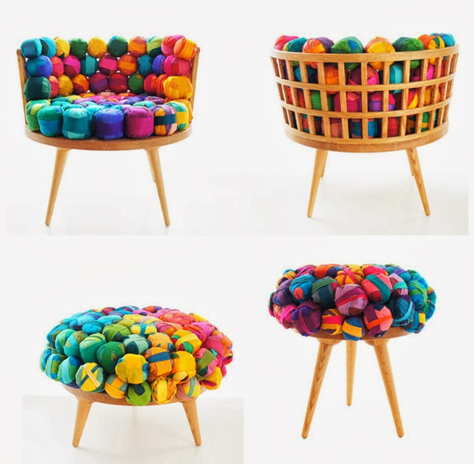 Design in Living Spaces: Recycled Silk Chair, Ottoman and ...
