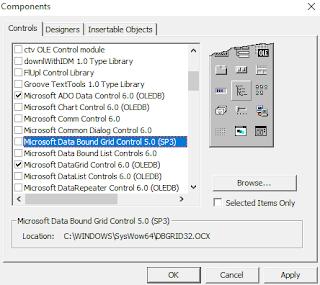 Cara  Menambahkan ADO Data Control 6.0 dan DataGrid Control 6.0 VB 6.0