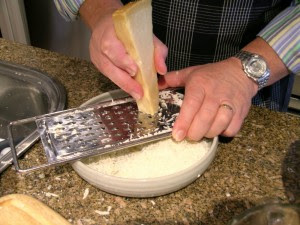 Grate Parmigiano Cheese