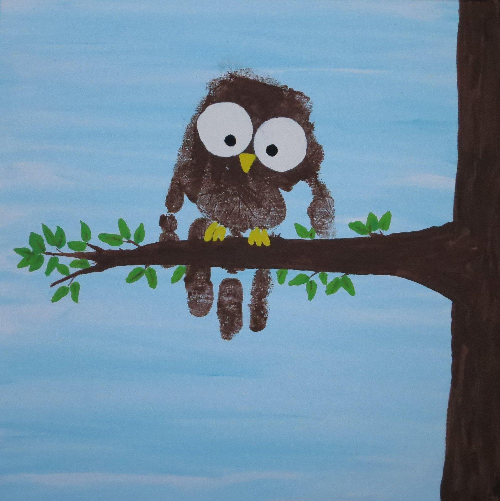 Cindy Derosier My Creative Life Handprint Owl