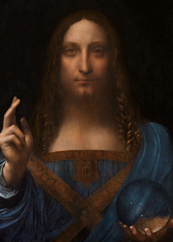 Salvator Mundi di Leonardo da Vinci venduto a prezzo record all'asta Christie's