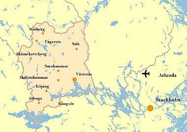karta västmanland Karta över Västmanland Regionen | Karta över Sverige, Geografisk  karta västmanland
