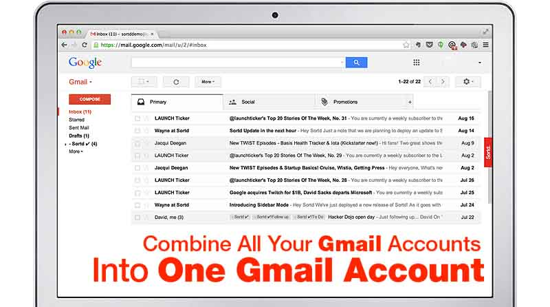 How to merge Email accounts in Gmail