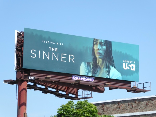 Jessica Biel Sinner series premiere billboard