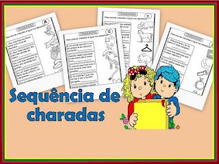 Atividades de alfabetização charadas