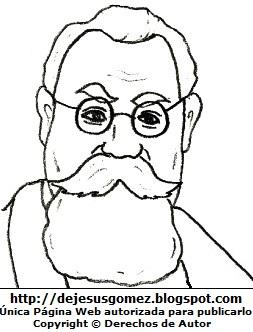 Venustiano Carranza para colorear pintar imprimir. Dibujo de Venustiano Carranza hecho por Jesus Gómez
