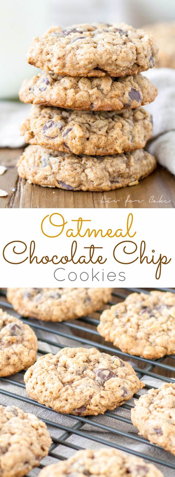 OATMEAL CHOCOLATE CHIP COOKIES #Oatmeal #Chocolate #Choco #Chip #Cookies #Dessert #bestdessert
