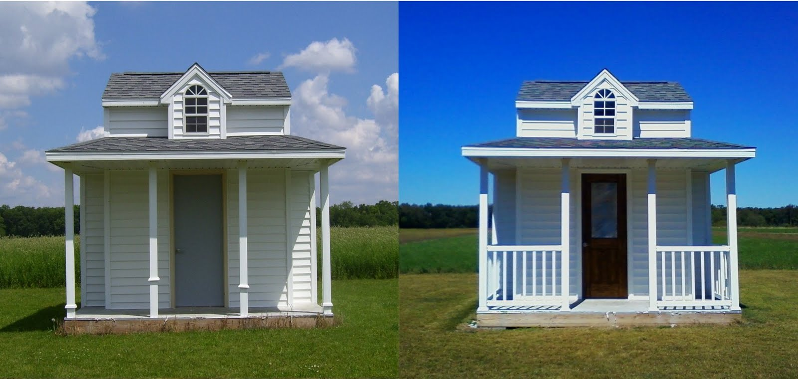 In Rainbow Colors-Paint!: Pool House Door
