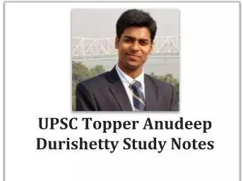 Anudeep Durishetty Complete Notes Pdf Download - Upsc Materials