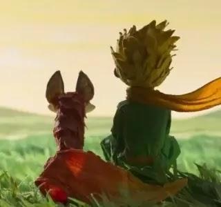 pequeno príncipe e a raposa refletindo