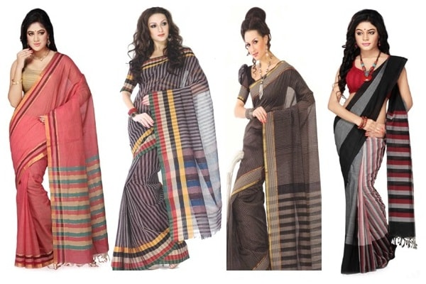 Fashionable Look With Handloom Cotton Saree Fashion2apparel