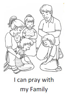 coloring book pages of families - photo#50