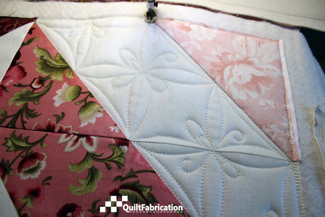 quilting design using the Making Connections-A Free Motion Quilting Workbook