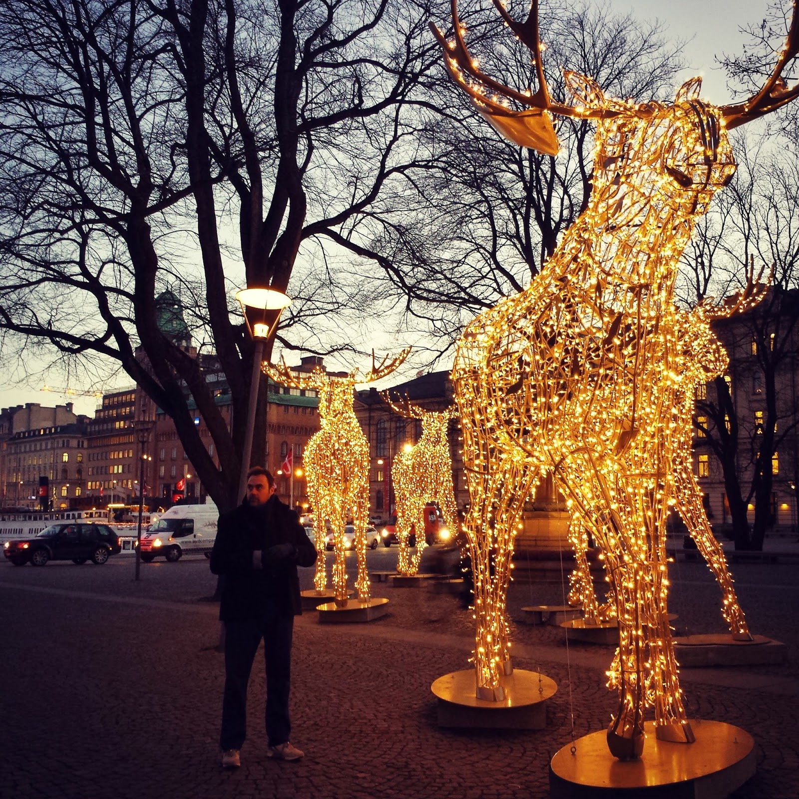 Chrismas moose in Stockholm  |  Christmas in Stockholm on afeathery*nest  |  http://afeatherynest.com