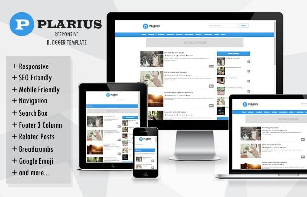 Plarius Responsive Blogger Templates