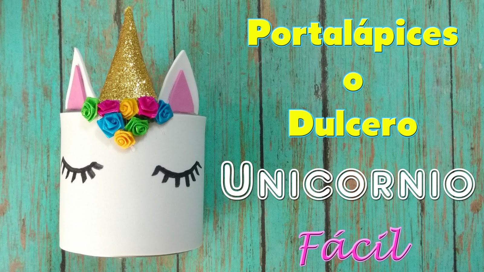 Portalapices Unicornio En Foami O Goma Eva