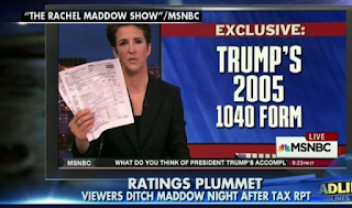 """Rachel's Ratings: Maddow's Viewership Plummets After Trump Tax Reveal"""