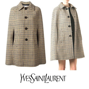 YSL Houndstooth Cape