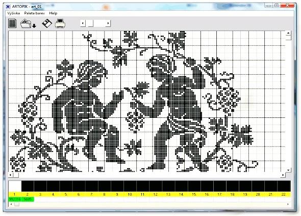 programa Artopik, patrones, punto de cruz, costura, labores