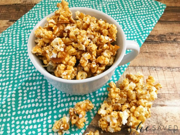 Homemade Caramel Corn Recipe from She Saved