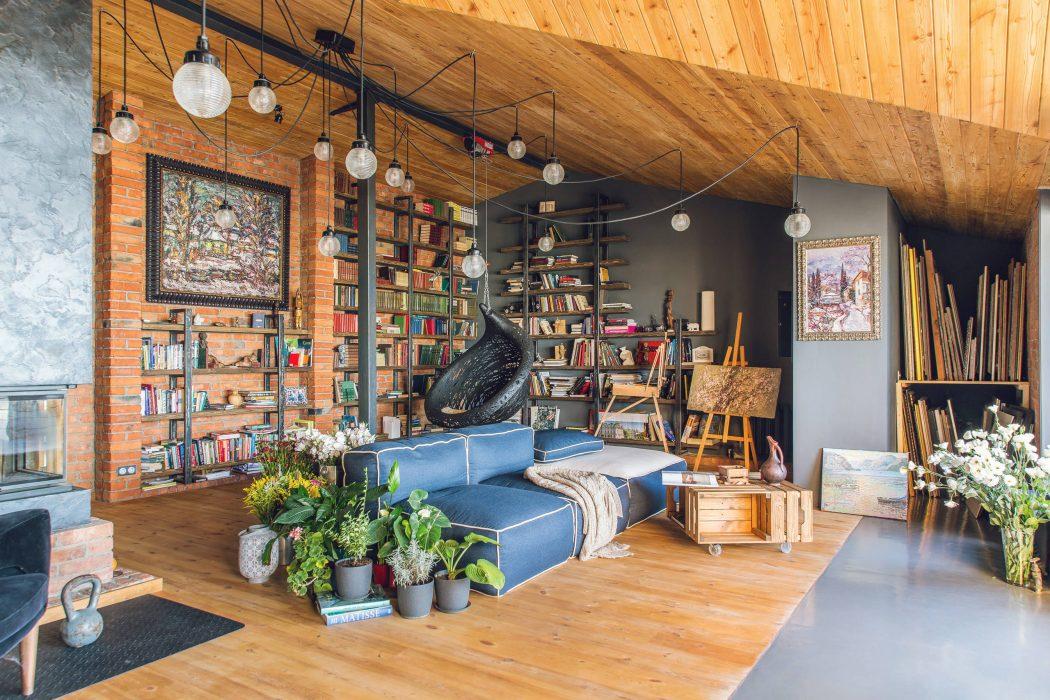 8dd7ad0d7c Estilo loft. madeira e cores