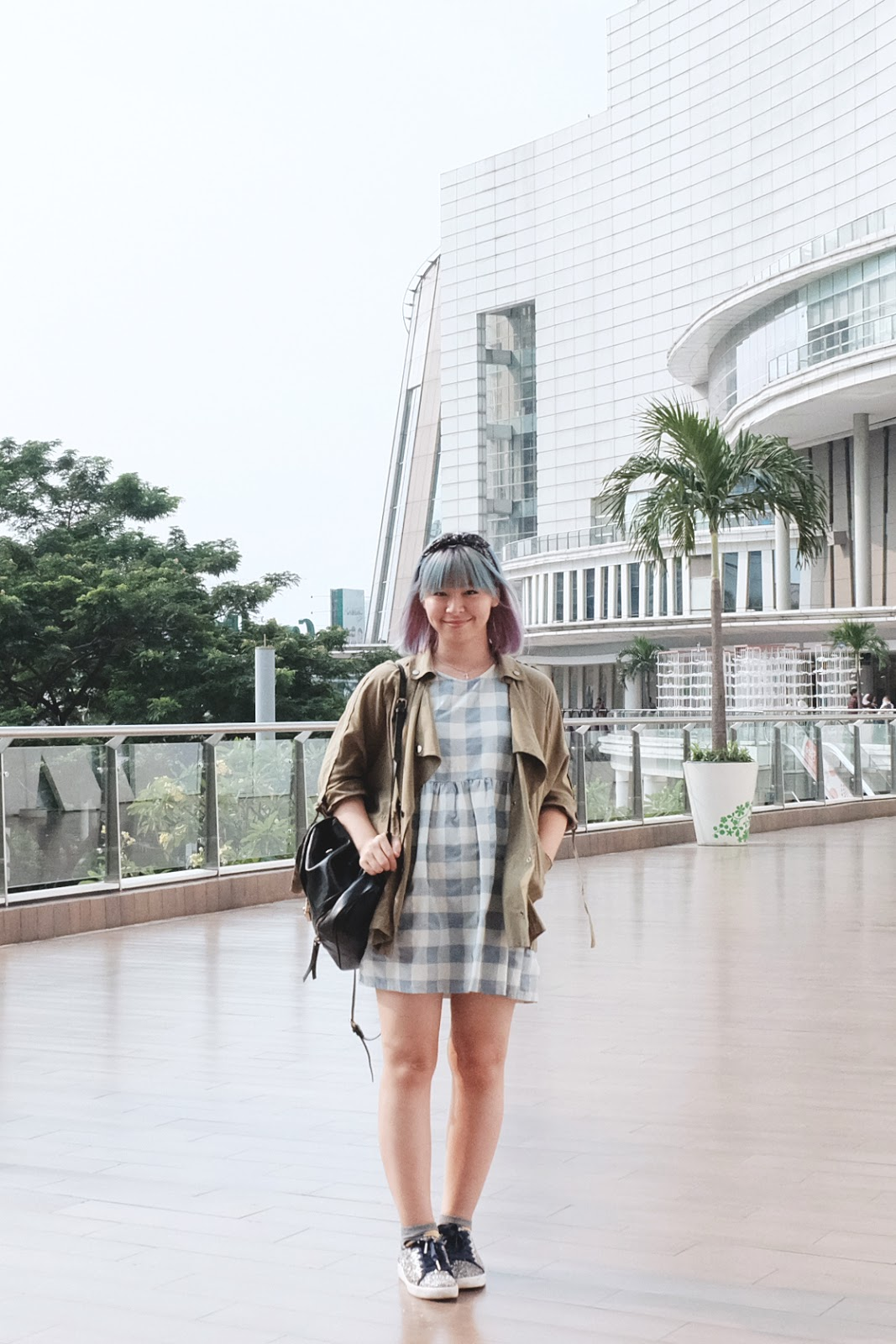 How to Wear Gingham Prints Parka | www.bigdreamerblog.com