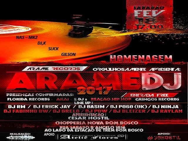 Em celebração ao primeiro elemento do Hip Hop, DJ Buiu promove o I Arame DJ no bairro de Itaquera.