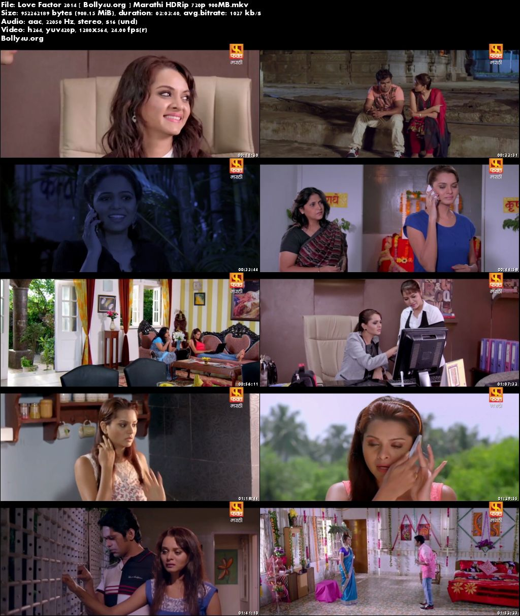 Love Factor 2014 HDRip 350Mb Marathi Movie 480p Download