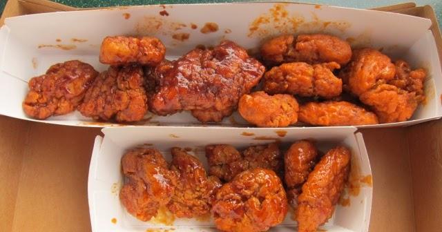 Review Sonic Boneless Wings Brand Eating