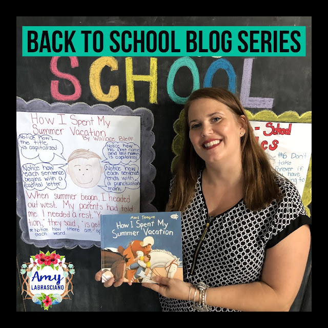 Click here to find ideas for launching writer's workshop.  Included are ideas and  an anchor chart for the very engaging book How I Spent My Summer Vacation.  Get your back to school plans ready.   Perfect for elementary classrooms and homeschool children.  {kindergarten, first, second, k, 1st, 2nd}
