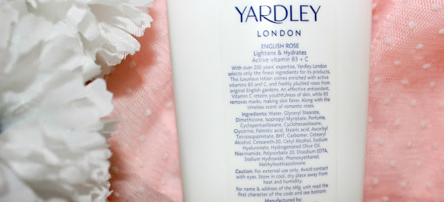 Yardley London English Rose Moisturising Body Lotion Review