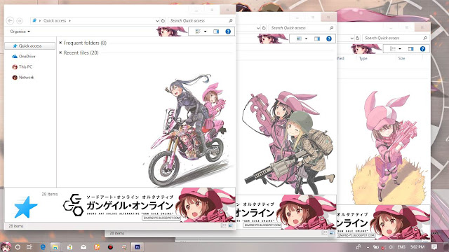 Windows 10 Ver. 1703 Theme Sword Art Online Alternative Gun Gale Online by Enji Riz
