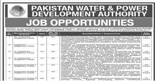 WAPDA Jobs 2020 in Pakistan | Jobs in WAPDA 2020 Latest,Latest Jobs in WAPDA (Apply Online), Careers - Wapda, WAPDA Jobs 2020 Online Apply Latest Advertisement,